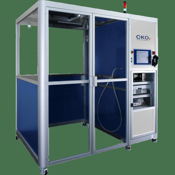 Druck- und Dichtheitsprüfstände DDF25 mit Kabine von CKO