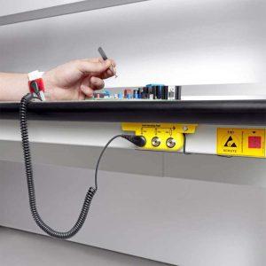 ESD-Erdungssystem für Lean Production Arbeitsplätze