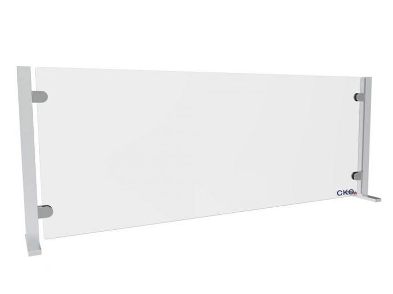 extra breite Hygieneschutzwand aus Echtglas von CKO