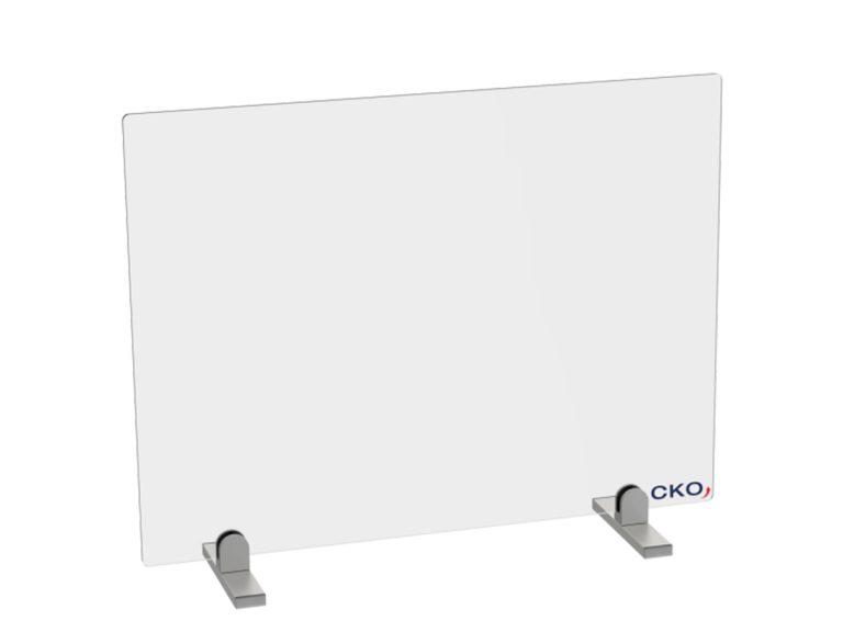 Kontaktschutzwand von CKO ohne Durchreiche aus Echtglas