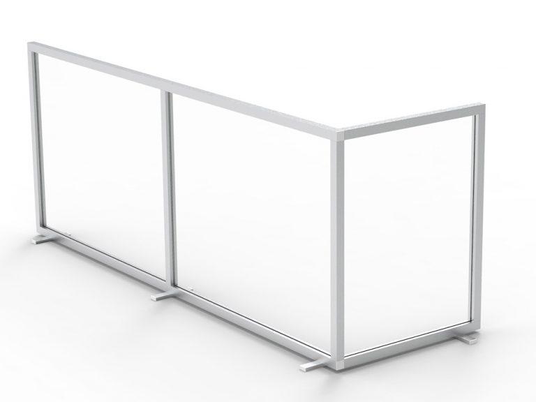 Sonderkonstruktion über Eck von CKO als Trennwand Spuckschutz