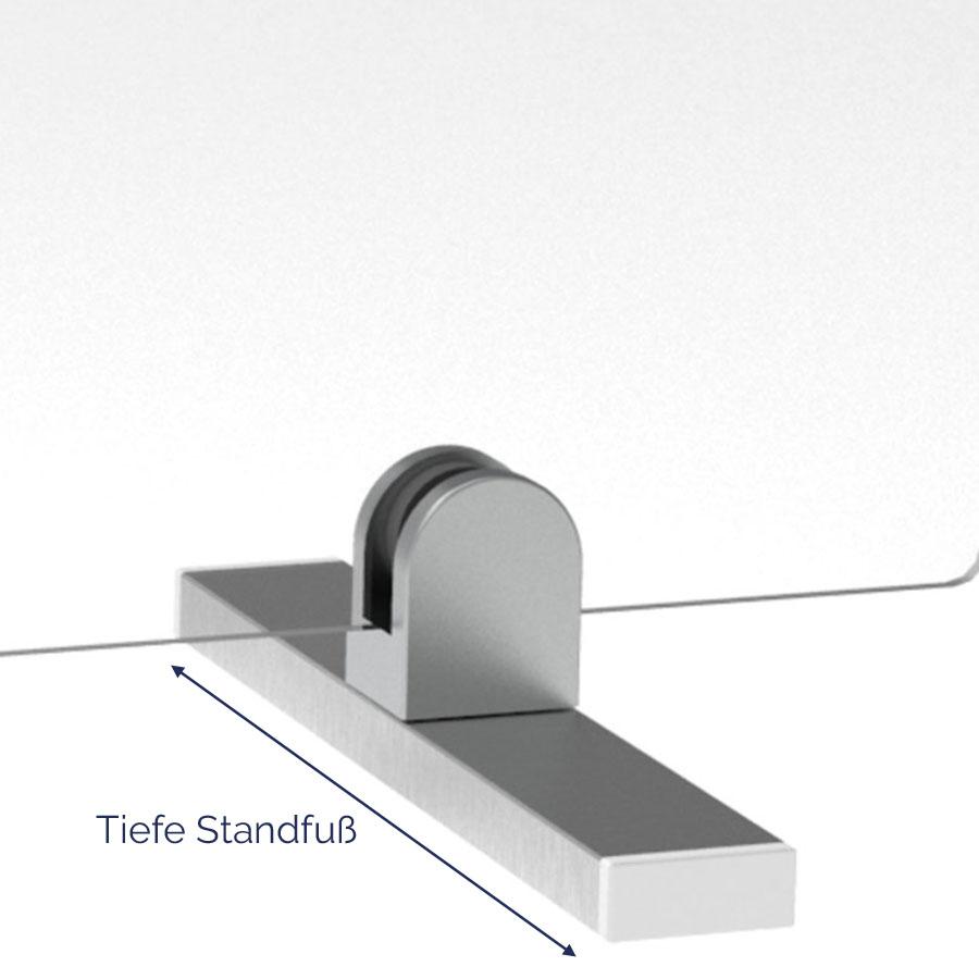 Standfuß für Thekenaufsteller aus Aluminium